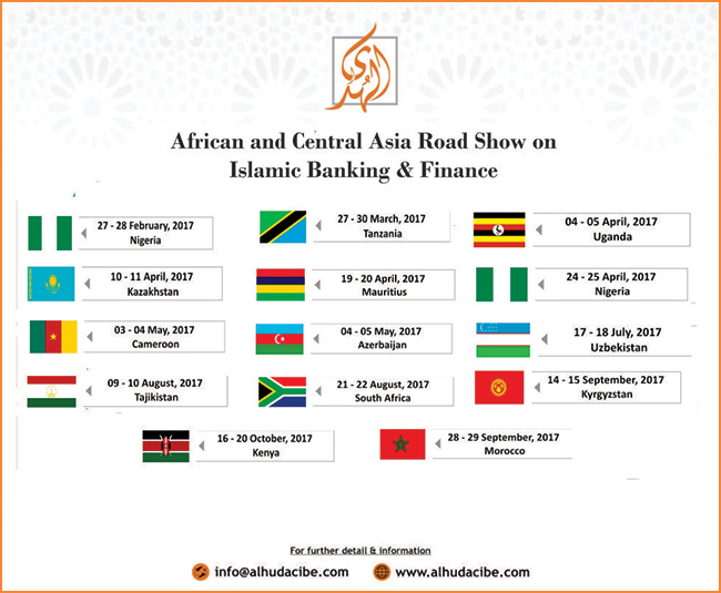 AlHuda (CIBE) vows to initiate an African & Central Asian Roadshow on Islamic Banking & Finance